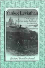 Cover of: Yankee leviathan | Richard Franklin Bensel