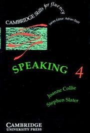 Cover of: Speaking 4 Audio cassette | Joanne Collie