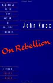 Cover of: On rebellion