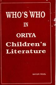 Cover of: Who's who in Oriya children's literature