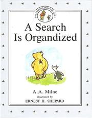 Cover of: A Search Is Organdized