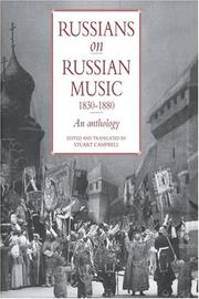 Cover of: Russians on Russian music, 1830-1880 |