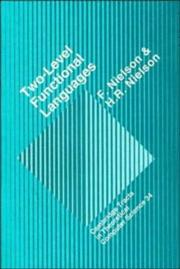 Cover of: Two-level functional languages