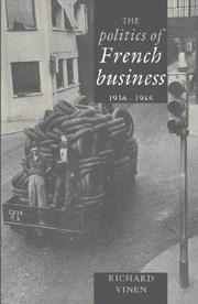 Cover of: The politics of French business