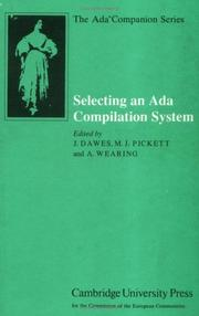Cover of: Selecting an Ada compilation system |