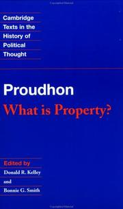 Cover of: What is property? by P.-J. Proudhon