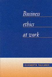Cover of: Business ethics at work