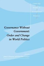 Cover of: Governance without government