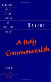 Cover of: A holy commonwealth