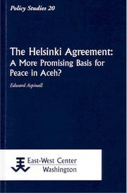 The Helsinki agreement by Edward Aspinall