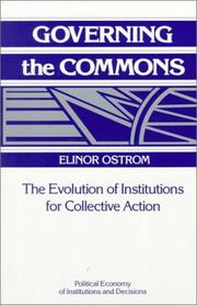 Cover of: Governing the commons