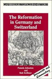 Cover of: The Reformation in Germany and Switzerland (Cambridge Topics in History) | Pamela Johnston
