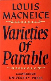 Cover of: Varieties of Parable