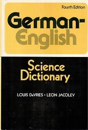 Cover of: German-English science dictionary: for students in the agricultural, biological and physical sciences