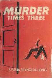 Cover of: Murder Times Three