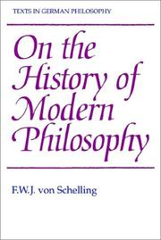 Cover of: On the history of modern philosophy