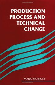 Cover of: Production process and technical change