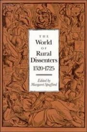 Cover of: The World of Rural Dissenters, 15201725