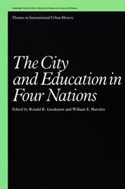 Cover of: The City and education in four nations |