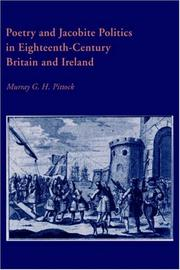 Cover of: Poetry and Jacobite politics in eighteenth-century Britain and Ireland