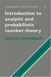 Cover of: Introduction to analytic and probabilistic number theory