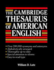 Cover of: The Cambridge thesaurus of American English