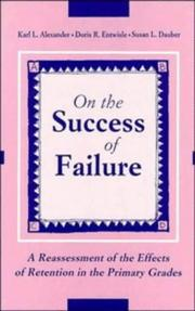 Cover of: On the success of failure | Karl L. Alexander