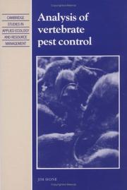 Cover of: Analysis of vertebrate pest control | Jim Hone