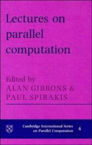 Cover of: Lectures on parallel computation |