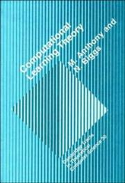 Cover of: Computational learning theory by Martin Anthony