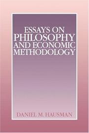 Essays on Philosophy and Economic Methodology