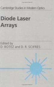 Cover of: Diode laser arrays by
