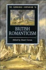 Cover of: The Cambridge companion to British romanticism |