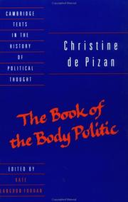 Cover of: The book of the body politic