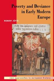 Cover of: Poverty and deviance in early modern Europe