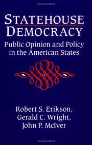 Cover of: Statehouse democracy