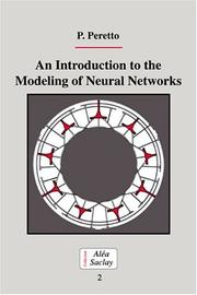 Cover of: An introduction to the modeling of neural networks