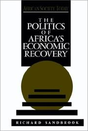 Cover of: The politics of Africa's economic recovery
