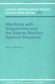 Cover of: Manifolds with singularities and the Adams-Novikov spectral sequence