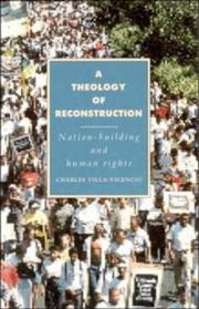 Cover of: A theology of reconstruction