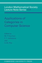 Cover of: Applications of categories in computer science