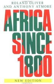 Cover of: Africa since 1800