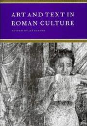 Cover of: Art and text in Roman culture |
