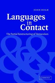 Cover of: Languages in contact