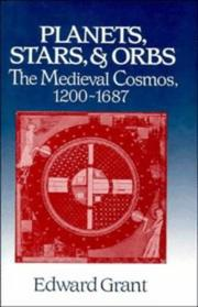 Cover of: Planets, Stars, and Orbs: the medieval cosmos, 1200-1687