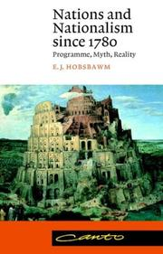 Cover of: Nations and nationalism since 1780: programme, myth, reality