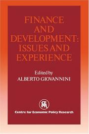 Cover of: Finance and Development