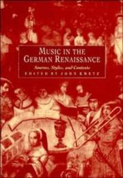 Cover of: Music in the German Renaissance