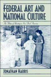 Cover of: Federal art and national culture | Harris, Jonathan