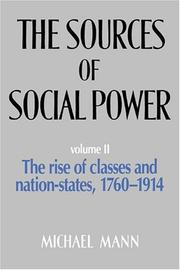 Cover of: The sources of social power | Mann, Michael
